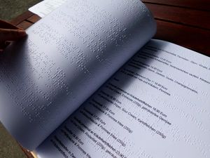 Menus in Braille. Photo: TV Niederlausitz/ K. Wersch